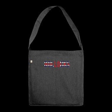 Bollocks British Flag Colors UK English Nonsense - Shoulder Bag made from recycled material