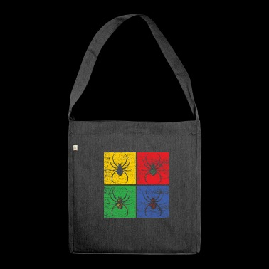 Fungo animale ragno spaventato fobia regalo pop art - Borsa in materiale riciclato
