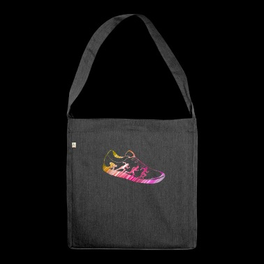 Running Sneakers Running Running Gift Idea - Shoulder Bag made from recycled material