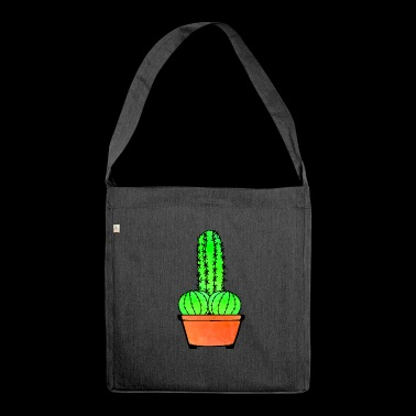 Provocative Cactus and Aloe - Shoulder Bag made from recycled material