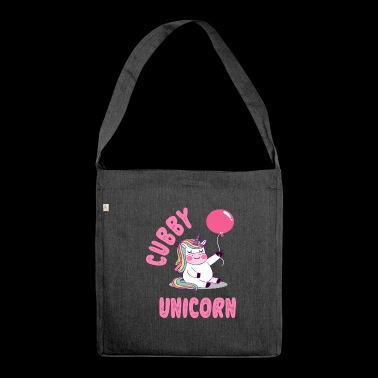 Chubby Unicorn Funny T-Shirt - Schultertasche aus Recycling-Material
