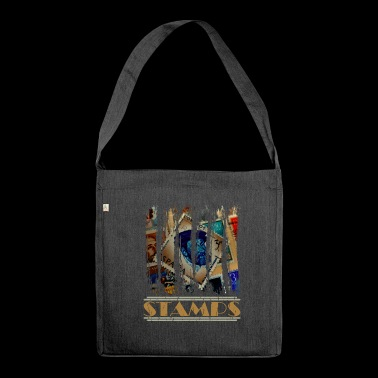 Stamps Stamps Graffiti Gift Idea - Shoulder Bag made from recycled material