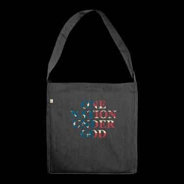 One Nation Under God - Shoulder Bag made from recycled material
