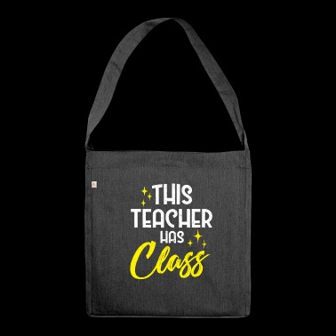 Teacher - Shoulder Bag made from recycled material