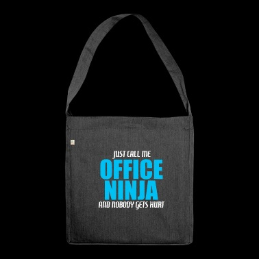 Office ninja - Shoulder Bag made from recycled material