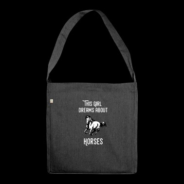 Horse equestrian equestrian pony equestrian sport dressage - Shoulder Bag made from recycled material