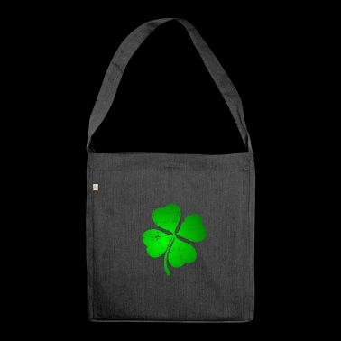 Stylish St. Patricksday - Schultertasche aus Recycling-Material