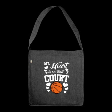 My Heart Is On That Court Basketball - Shoulder Bag made from recycled material