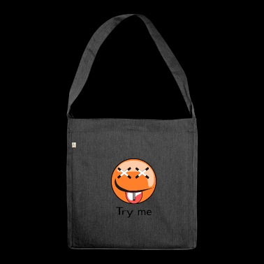 Three faces graffiti Spreadshirt - Schultertasche aus Recycling-Material