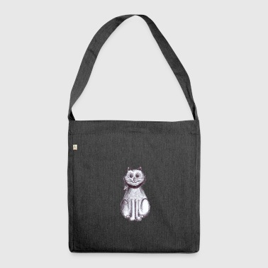 Kitten sitting - Shoulder Bag made from recycled material