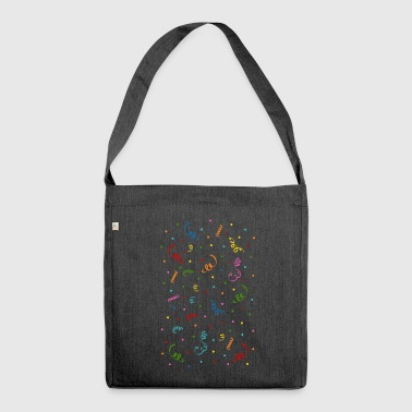 Confetti and streamers in colorful - Shoulder Bag made from recycled material