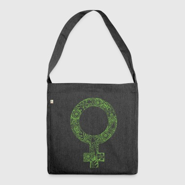Girl power woman power woman may green - Shoulder Bag made from recycled material
