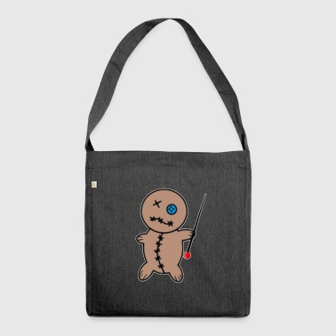 Voodoo doll - Shoulder Bag made from recycled material