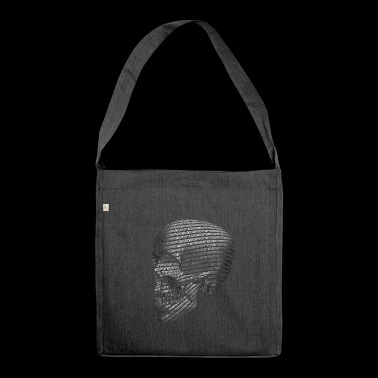 BINARY SKULL - BINARY CRANE - Binary Skull - Shoulder Bag made from recycled material