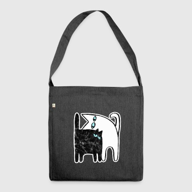 Cuddly cuddly cats love each other. - Shoulder Bag made from recycled material