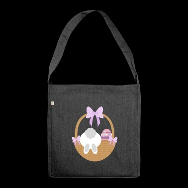 Easter basket - Shoulder Bag made from recycled material