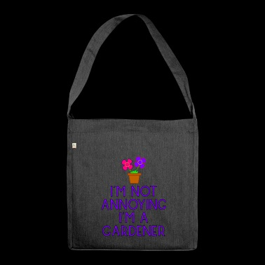 garden gardener garden flowers plants37 - Shoulder Bag made from recycled material