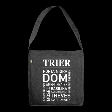 Trier souvenir sights - Shoulder Bag made from recycled material