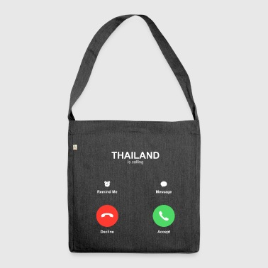 THAILAND is calling - Schultertasche aus Recycling-Material