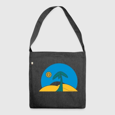 Palm tree - Shoulder Bag made from recycled material