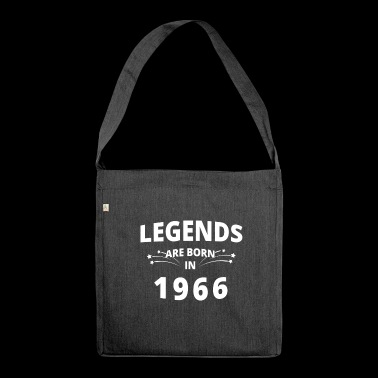 Legends Shirt - Legends are born in 1966 - Shoulder Bag made from recycled material