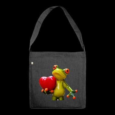 Hapi the tree frog - Shoulder Bag made from recycled material