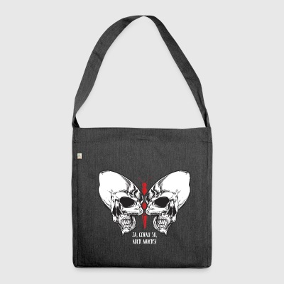 Skull Schmetterling - Schultertasche aus Recycling-Material