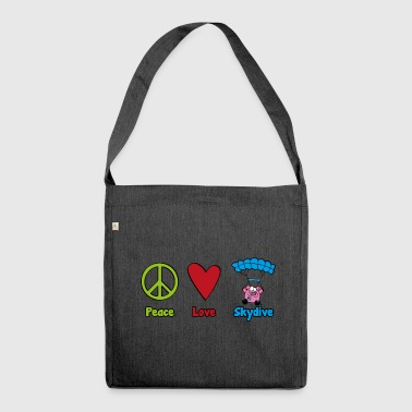 Peace Love Skydive - Schultertasche aus Recycling-Material