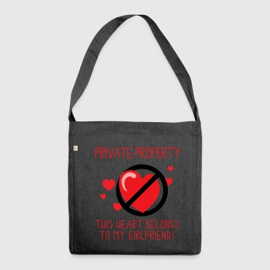 Girlfriend This Heart Belongs To My Girlfriend - Shoulder Bag made from recycled material