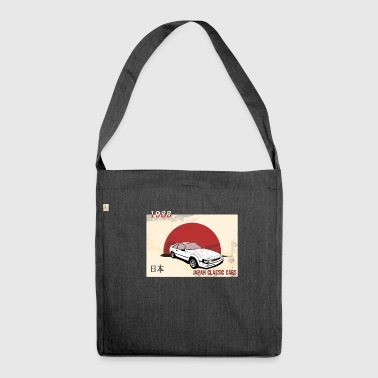 Japanese cars, classic car, classic car - Shoulder Bag made from recycled material