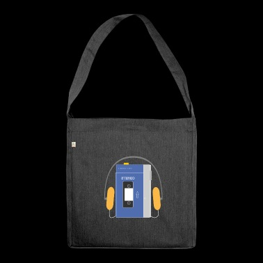 Stereo walkman in blue - Shoulder Bag made from recycled material