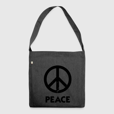 Peace Sign Peace Demo Grunge Flower Power - Shoulder Bag made from recycled material