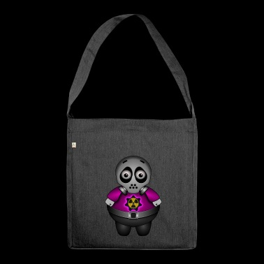 Alien with atom and gas mask - Shoulder Bag made from recycled material