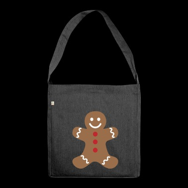Gingerbread man - Shoulder Bag made from recycled material