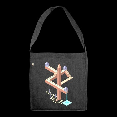 Monument Valley Tribut - Schultertasche aus Recycling-Material
