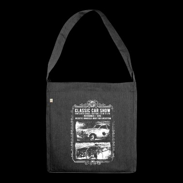 Classic Car Show: classic cars in action! - Shoulder Bag made from recycled material
