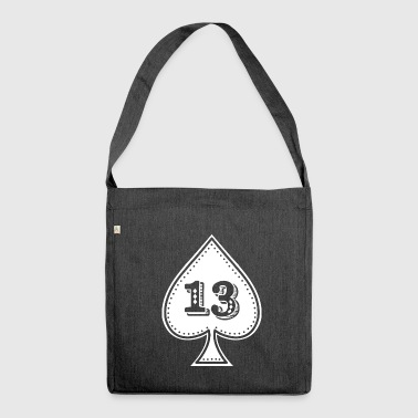 Ace of spades mit der Nummer 13 - Rock and Roll Hip-Hop - Schultertasche aus Recycling-Material