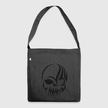 tribal skull - Shoulder Bag made from recycled material