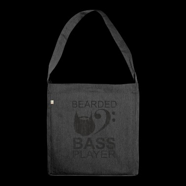 Bearded electric bass player gift - Shoulder Bag made from recycled material
