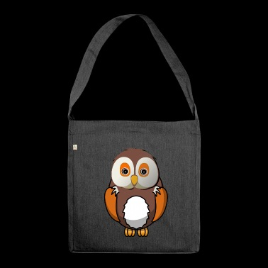 Madam the owl - Shoulder Bag made from recycled material
