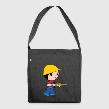 construction worker construction worker road construction tierfb - Shoulder Bag made from recycled material