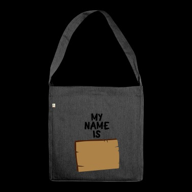 DEIN NAME - Schultertasche aus Recycling-Material