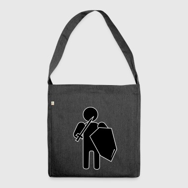 Stickman Knight - Shoulder Bag made from recycled material