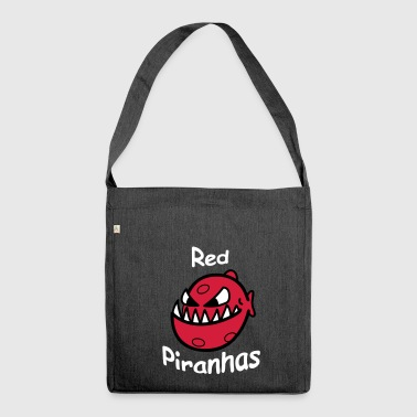 Red piranhas - Shoulder Bag made from recycled material