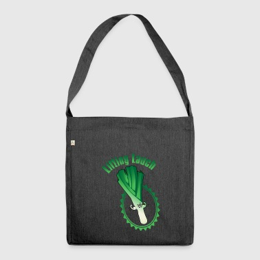 Lifiting leek - Shoulder Bag made from recycled material