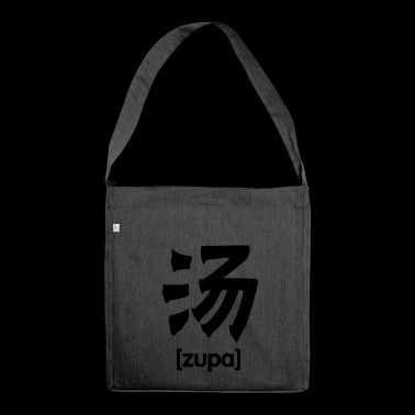 Soup China Chinese writing - Shoulder Bag made from recycled material