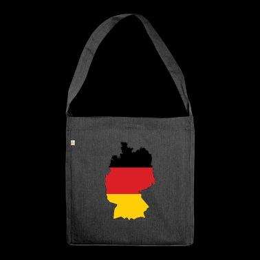 Germany map - Shoulder Bag made from recycled material