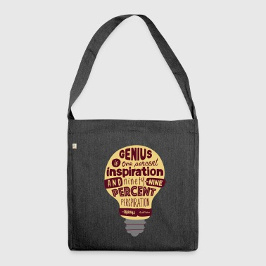 Reply with quote Thomas Edison - Shoulder Bag made from recycled material