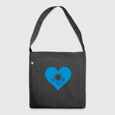 A Heart For Kazakhstan - Shoulder Bag made from recycled material