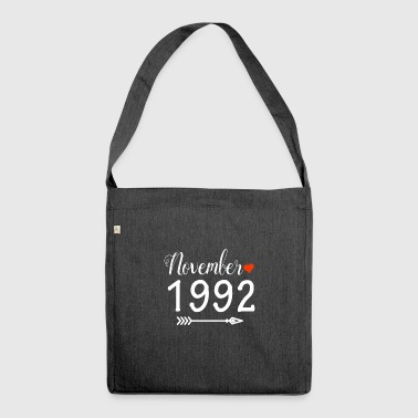 November 1992 - Schultertasche aus Recycling-Material